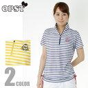 オプスト OPSTゴルフウェア レディースBD半袖チュニックシャツOP220301F11