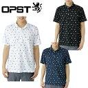 オプスト(OPST) ゴルフウェア(メンズ) トビ柄プリント半袖ポロシャツ OP220101F06 【2016年春夏モデル】