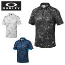 【2016年春夏モデル】オークリー(OAKLEY) ゴルフ 半袖ポロシャツ(メンズ) Bark Leaf Geo Shirt 433627JP