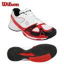 ウイルソン(Wilson) テニスシューズ オムニ・クレー用(メンズ・レディース) RUSH DRAGON+(WH/RD) WRS319500