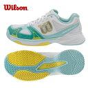 ウイルソン Wilsonテニスシューズ オールコート用 レディースラッシュEVO W AC WH/SAWRS320750U テニス シューズ