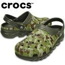 クロックス(crocs)サンダル(ユニセックス)デュエット マックス カモ クロッグC202648-3J5