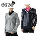 オプスト ( OPST ) ゴルフ ( レディース ) ストライプVネックセーター OP220404F02