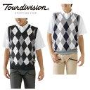 ツアーディビジョン ( Tour division ) ゴルフ セット ( メンズ ) ポロシャツ+ニットベスト TD220211F03