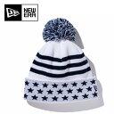 ニューエラ ( NEW ERA ) ゴルフ アクセサリー ビーニー ニット帽 Pom-Pon Knit Stars & Stripes 11322074