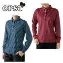 オプスト ( OPST ) ゴルフ ポロシャツ ( レディース ) ストライプ長袖シャツ OP220402F02