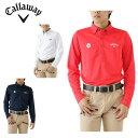 キャロウェイ Callawayゴルフ ポロシャツ メンズキリン柄レギュラー長袖 ボタンダウン シャツ241-6256503