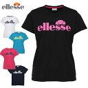エレッセ テニスウェア Tシャツ 半袖 レディース ロゴTシャツ ETS1610L ellesse バドミントンウェア