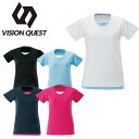 ビジョンクエスト VISION QUEST Tシャツ 半袖 レディース レイヤード機能Tシャツ VQ451201G02