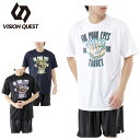 【5,000円以上購入でクーポン利用可能 5/30 23:59まで】 ビジョンクエスト VISION QUEST バスケットボール 半袖プリントTシャツ VQ570413G04