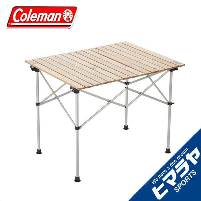 コールマンアウトドアテーブル大型テーブルナチュラルウッドロールテーブル/902000031290co