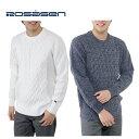 ロサーセン ROSASEN ゴルフ メンズ エステルニットクルーセーター 044-15210
