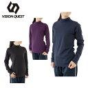 ビジョンクエスト VISION QUEST Tシャツ 長袖 レディース ハイネックロンT VQ451202G64