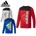 アディダス Tシャツ 長袖 ジュニア Boys ESS コットンタッチ スーパービッグロゴ長袖Tシャツ DUW13 adidas