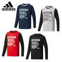 アディダス Tシャツ 長袖 ジュニア Boys ESS コットンタッチ アスレチック 長袖Tシャツ DUW14 adidas