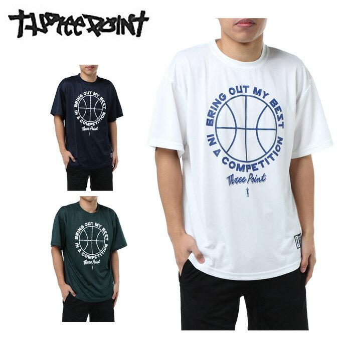 バスケットボールウェア 半袖シャツ メンズ 半袖プリントTシャツ TP570413H06 スリーポイント ThreePoint 3PT