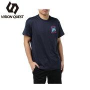 ビジョンクエスト VISION QUEST スポーツウェア 半袖Tシャツ メンズ T&F文字Tシャツ VQ561012H02