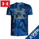 アンダーアーマー Tシャツ 半袖 ジュニア テックTシャツ Print Crossfade トレーニング Tシャツ BOYS ボーイズ 1306088-400 UNDER ARMOUR