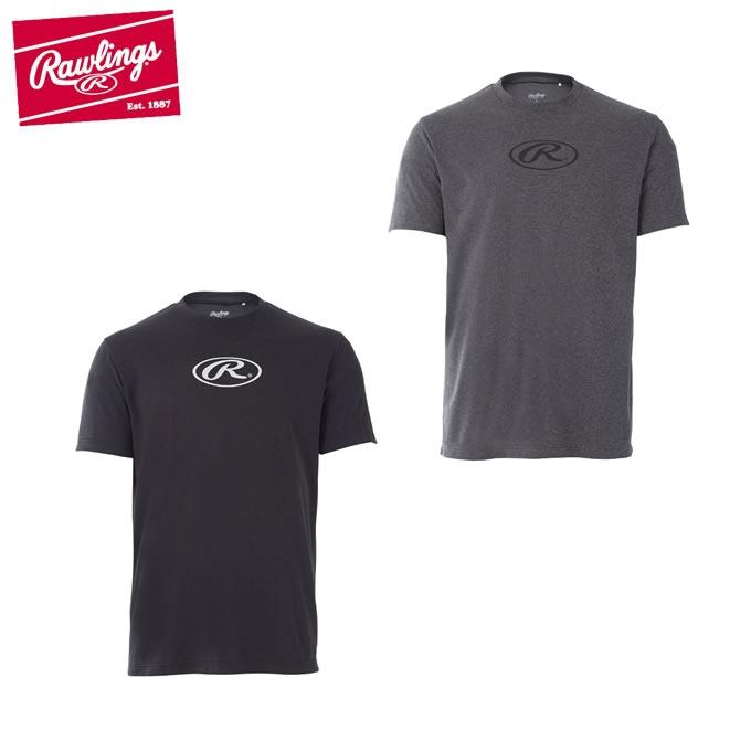 ローリングスRawlings野球アンダーシャツ半袖メンズオーバルR杢TシャツAST8S02