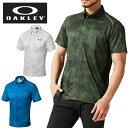 オークリー ゴルフウェア ポロシャツ 半袖 メンズ Bark Wind Tracks Shirts バークウィンドトラックスシャツ 434187JP OAKLEY