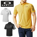 オークリー ゴルフウェア ポロシャツ 半袖 メンズ Bark Shadow Border Shirts バークシャドウボーダーシャツ 434188JP OAKLEY