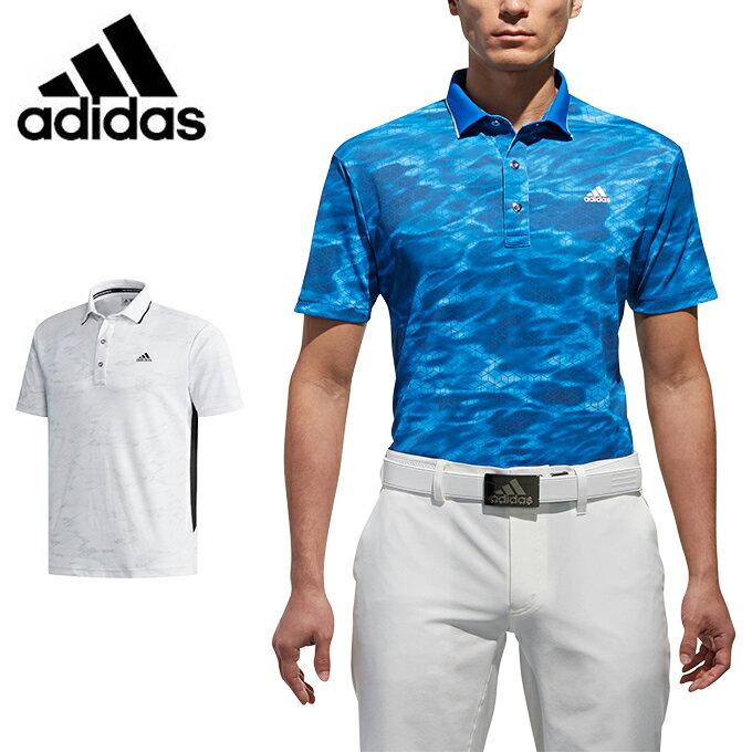 アディダス ゴルフウェア ポロシャツ 半袖 メンズ JP CP ジオメトリックプリント S/S ラインドポロ CCO31 adidas
