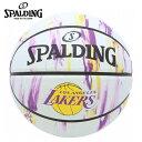 スポルディング SPALDING バスケットボール 7号球 レイカーズ マーブル 83-933J