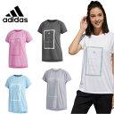 アディダス Tシャツ 半袖 レディース M4T メッセージプリントTシャツ FTF46 adidas