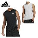アディダス スポーツウェア ノースリーブ メンズ スリーブレス3ストライプスTシャツ FSF39 adidas