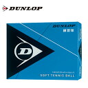 ダンロップ DUNLOP ソフトテニスボール 練習球 箱売り12球 DSTBPRA2DOZ