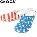 クロックス サンダル メンズ Classic American Flag Clog クラシック アメリカン フラッグ クロッグ 205974-94S crocs