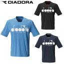 ディアドラ テニスウェア Tシャツ 半袖 メンズ ロゴトップ DTP9586 DIADORA