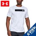アンダーアーマー Tシャツ 半袖 メンズ UAプリント バー ショートスリーブ トレーニング MEN 1344233-100 UNDER ARMOUR
