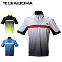 ディアドラ テニスウェア ゲームシャツ メンズ ZIPゲームシャツ DTG0335 DIADORA
