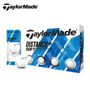 テーラーメイド TaylorMade ゴルフボール 1ダース 12個入 ディスタンス + ソフトボール DW-WZ956-JP