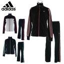 アディダス(adidas)上下セット スポーツウェア(レディース)トレーニングジャケット+トレーニングパンツ ロングBIK05+BIK06