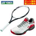 ヨネックス 硬式テニスラケットセット ラケット + テニスシューズ メンズ レディース Eゾーンパワー102 + パワークッション103 19EZPWH-181 + SHT103-114 YONEX