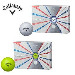 【エントリー&楽天カード利用でポイント10倍 12/10 0___00〜23___59】 <strong>キャロウェイ</strong> Callaway ゴルフボール 1ダース 12個入 SUPERSOFT スーパーソフト ボール