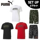 プーマ 半袖Tシャツ ハーフパンツ セット メンズ CAMO グラフィックTシャツ+CAMO AOP スウェットショーツ 589777+532025 PUMA