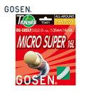 GOSEN ゴーセン硬式テニスガットオージー・シープ ミクロスーパー16LTS401テニスストリング ガット