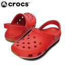 【エントリーでポイント5倍 8/21 23:59まで】クロックス(crocs) サンダル(ユニセックス) クロックス レトロ クロッグ(RD/BK) 14001