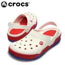 【エントリーでポイント5倍 8/21 23:59まで】クロックス(crocs) サンダル(ユニセックス) フロント コート クロッグ(WH/RD) 14300