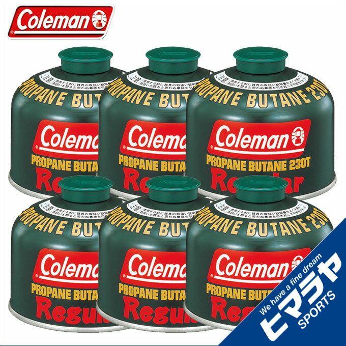 コールマン(Coleman) ガスカートリッジ 純正LPガス燃料[Tタイプ]230g×6個セット 5103A230T