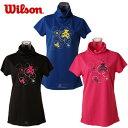 ウィルソン(wilson) テニスウェア レディース 半袖UVカットチュニックTシャツ UPF50+チュ...