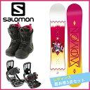 サロモン(salomon) レディース スノーボード3点セット LOTUS(ボード):SCARLET BOA(ブーツ):PACT(ビンディング) LOTUS 【...