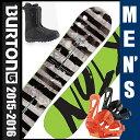 バートン(BURTON) メンズ スノーボード3点セット BLUNT(ボード):MOTO AF(ブーツ):FREESTYLE(ビンディング)  【15-16 2...