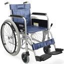 カワムラサイクル製KR801Nソフトソフトタイヤ(ノーパンク)仕様スチール製自走式車椅子ノー