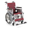 75cm幅の廊下を曲がれます。アルミ製自走用車椅子「こまわりくん」機能=背折れ:可、バンド式...