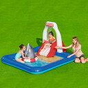 ショッピングビニールプール 大型プール すべり台 滑り台 大型 ビニールプール 噴水 ベランダ ファミリープール キッズプール 子供用プール 子ども用プール 家庭用プール ガーデンプール すべり台付き 滑り台付き スライダー 送料無料 234x203x129CM