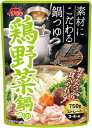 ショッピング日食 【イチビキ】ストレート 鶏野菜鍋つゆ 750g 3〜4人分【冬季限定】